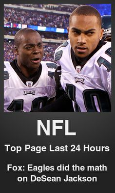 Top NFL link on telezkope.com. With a score of 2726. --- Fox: Eagles did the math on DeSean Jackson. --- #nflontelezkope --- Brought to you by telezkope.com - socially ranked goodness