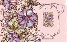 hand drawn watercolor pattern • Also buy this artwork on kids clothes, apparel, stickers, and more. .Autumn garden. Hand drawn watercolor pattern from kanvisstyle design  #redbubble,  #flowers , #pattern, #draw, #handdrawn, #watercolor