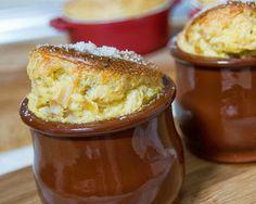 migas y gachas: Soufflé de puerros y parmesano #recetas #gastronomia