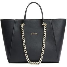 GUESS Nikki Chain Tote (31.295 HUF) ❤ liked on Polyvore