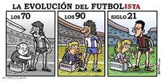 Evolución del futbolista
