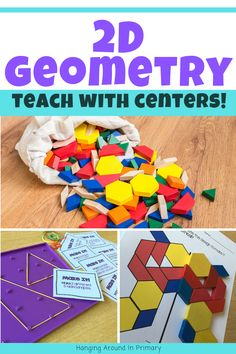 Engage your students with Hands-On Geometry Centers Teaching Geometry, Geometry Activities, Hands On Activities, Teaching First Grade, Teaching Math, Primary Maths, Teacher Inspiration, Curriculum, Homeschool