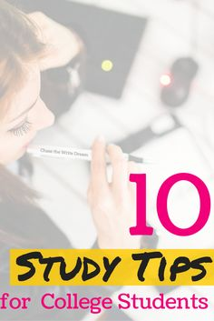 10 Study Tips for College Students - Getting good grades in college requires more than just memorizing material and taking tests. If you are looking to improve your learning capabilities and study skills, you won't want to miss these 10 study tips!