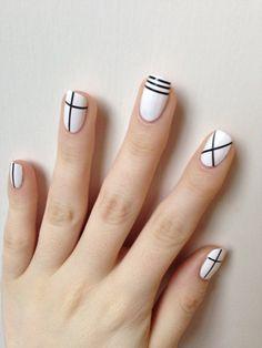 """blancnails: """"NOTD inspired by nail art in CLC's Pepe mv! Nail Art Designs Videos, Simple Nail Art Designs, Minimalist Nails, Toe Nail Color, Nail Colors, Stylish Nails, Trendy Nails, Feet Nail Design, Asian Nails"""