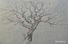 Field Oak- winter, or the 'wriggly tree'. Freehand Machine Embroidery, Textile Artists, Textiles, Gallery, Winter, Winter Time, Roof Rack, Cloths, Winter Fashion