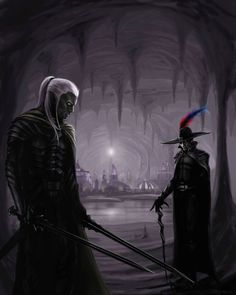 Zaknafein and Jarlaxle, two of my favorite drow from the Legend of Drizzt