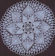 Knitting Patterns Lace Doilies : 1000+ images about Knitted Doilies on Pinterest Doilies ...