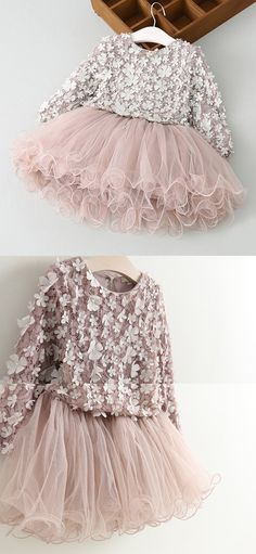 Lace Flower Girl Dress and Princess Dress in blush pink. Tutu skirt. Flower top. Fall outfits. Dress for toddlers. Dress for little girls.
