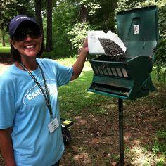 Joni Delph, a CarMax Cares volunteer, fills the Garden's bird feeders each week!  Lucky birds! @CarMaxCares donates $100 for each 10 hours she works.