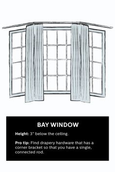 How To Hang Curtains for a Bay Window                                                                                                                                                                                 More