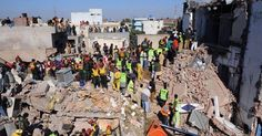 This file photo shows rescue teams at the site of an earlier roof collapse in Lahore at a factory. - File Photo