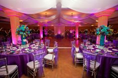 Love decor! Same color as our tables will be