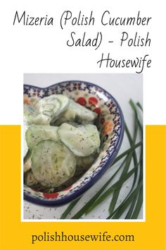 This salad of cucumbers in sour cream is a cool and refreshing side dish. Even in their somewhat wilted state (from the salt and vinegar), they still provide some crunch. Great Recipes, Vegan Recipes, Favorite Recipes, Sour Cream Cucumbers, Polish Easter, Polish Recipes, Cucumber Salad, I Foods, Love Food