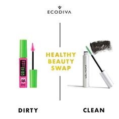Your #makeupMonday Healthy Beauty Swap reminder: Mascara can contain not only parabens and skin irritants but also the two chemicals that bond to form TEFLON. You know that stuff companies put on cookware to keep food from sticking.?Yeah gross. So instead of swiping hazardous chemicals on your sensitive eyes switch to a clean alternative like W3LL PEOPLE's Expressionist mascara one of the highest-rated green mascaras on the market. Everyone loves it and it's totally safe unlike that Great…