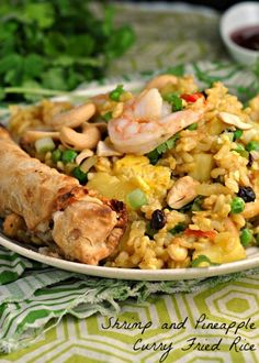 Shrimp and Pineapple Curry Fried Rice