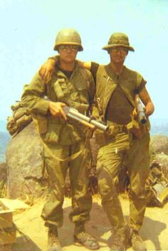 Marv Songer and Ken Quale...my brother (right facing) in Vietnam war- war.is oh so terrible..