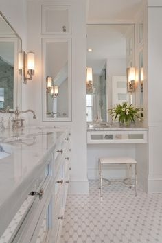 Bathroom decor for your master bathroom remodel. Learn master bathroom organization, bathroom decor a few ideas, bathroom tile a few ideas, bathroom paint colors, and more. Bad Inspiration, Bathroom Inspiration, Bathroom Ideas, Bathroom Designs, Bathroom Storage, Bathroom Renovations, Cabinet Inspiration, Bathroom Goals, Bathroom Closet