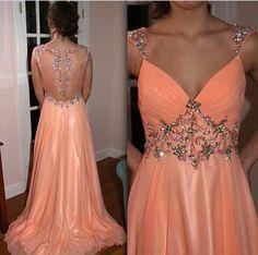 Pd07203 High Quality Prom Dress,A-Line Prom Dress,V-Neck Prom Dress,Chiffon Prom Dress,Long Beading Prom Dress