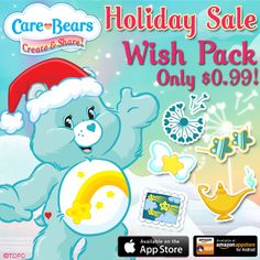 Holiday Special! Get the Wish Pack for only $0.99 in Care Bears Create & Share!