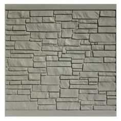 SimTek, 6 ft. x 6 ft. EcoStone Gray Composite Fence Panel, FP72X72EGRY at The Home Depot - Mobile