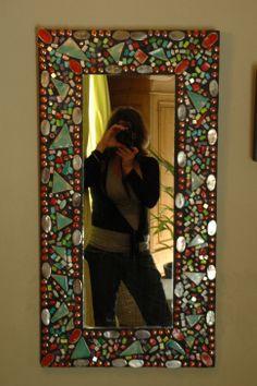 my mosaic mirrors - handmade ceramic tiles and venetian glass  dianabaurceramics.wordpress.com