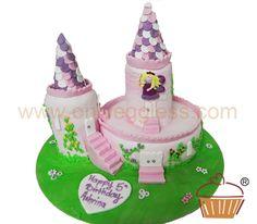 C251 - Princess Castle Iced Cake