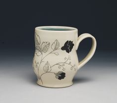 Mug by Dulcie Miller Clayworks. American Made. See the artist's work at the 2014 Buyers Market of American Craft, Philadelphia, PA. January 18-21, 2014. americanmadeshow.com
