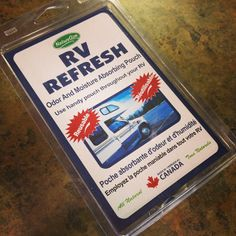 Are you storing your RV for the winter? Fight odor-causing mildew with RV Refresh, an all-natural pouch that neutralizes moisture and odor. Plus, you never have to replace it - just recharge it in the sun or in a dry area every six months for several hours and it'll be brand new again!