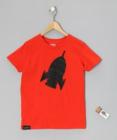 Take a look at this Orange Rocket Chalkboard Tee - Toddler & Kids by The Chalkboard Tee on #zulily today!