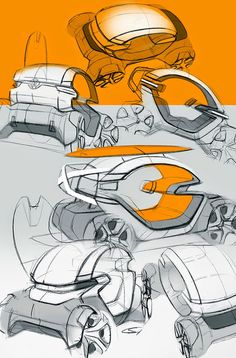 rendering and sketching of a nice concept