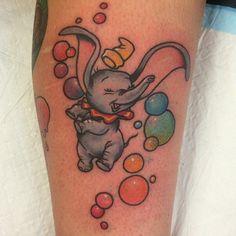 disney world tattoo Disney Tattoos, Disney Inspired Tattoos, Cartoon Tattoos, Dumbo Tattoo, Future Tattoos, Love Tattoos, Beautiful Tattoos, Amazing Tattoos, Tatoos