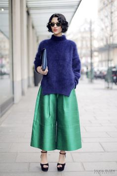Paris FW aw13 ...  wide legged cropped pant - hard to pull off unless you are style maven yasmin sewell
