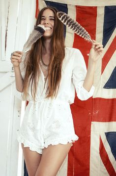 Emma of Spell & the Gypsy Collective looking boho cute in a fresh little play suit.