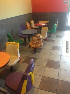 McDonald's-so much cooler. Grimace was always my favorite because he reminded me of Barney