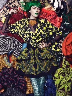 Robbie Fimmano creates a tapestry of couture-collage in 'The Clash' for the December issue of Interview Magazine. Patrycja Gardygajlo plays part of the art in thiseclectic vision of modern beauty, inspired by this season's lush mix of color, texture and design. A conceptual look at the power of change, Fimmano shows us how to transform …