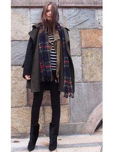 #Skinny jeans#scarf