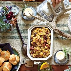Cornbread, Chestnut, and Country Ham Dressing - Thanksgiving Dressing ...