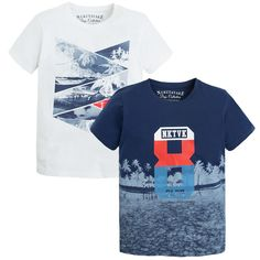 super cute 5abe9 71fb4 T-shirt print Blues - Mayoral Summer Boy, Boys T Shirts, Child Fashion