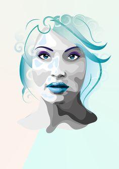 Vector Portraits - Gemma Arterton by Markéta Kontová, via Behance