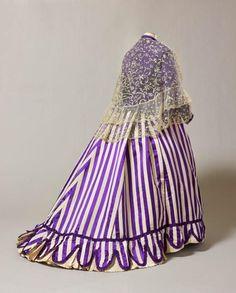 """Expo """"Folie Textile"""" : robe de jour de la princesse Mathilde, 1867"""