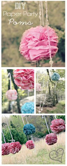 Printing Paper Poms! Beautiful DIY Decorations