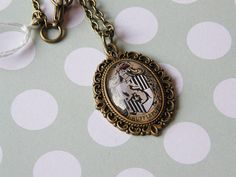 Harry Potter Hufflepuff House Small Cameo by LoveLittleTreasures