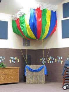 Christy enjoys a ride in the hot air balloon. Hot Air Balloon Classroom Theme, Classroom Themes, Kindergarten Classroom, Around The World Theme, Aviation Theme, Balloon Display, Holiday Program, Transportation Theme, Air Ballon