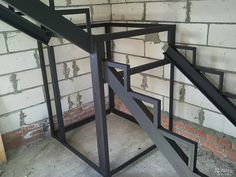 Great for shop Staircase Handrail, Stair Railing, Staircase Design, Hallway Ceiling, Shiplap Ceiling, Casa Patio, Building Stairs, Steel Stairs, Stair Detail