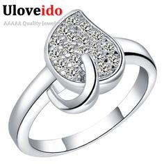 Find More Rings Information about Uaib 925 Sterling Silver Ring CZ Zircon Platinum Plated Fashion Crystal Leaf Party Jewelry Size 7 8 9 Women Gifts J370,High Quality jewelry organizers for drawers,China gift bags jewelry Suppliers, Cheap gift card holder display from ULOVE No.2 Fashion Jewelry Store  on Aliexpress.com