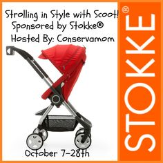 #StokkeScoot Stroller Giveaway!  Stroll in Style with the Scoot!  ARV $599