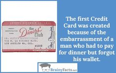 The first Credit Card | BrainyFacts.net