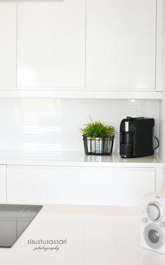 Scandinavian white kitchen. Interior design by Marika Ritala-Mäkinen (Finland, Tampere).