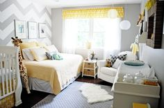 """Nadia's """"Yellow & Grey Sunshine"""" Room Room for Color Contest"""