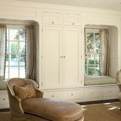 Window Seats With wardrobe | WS15: Twin Window Seat with Surrounding Wardrobes - ByDesign Kitchens ...